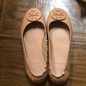 TORY BURCH Minnie travel ballet flats sz 7